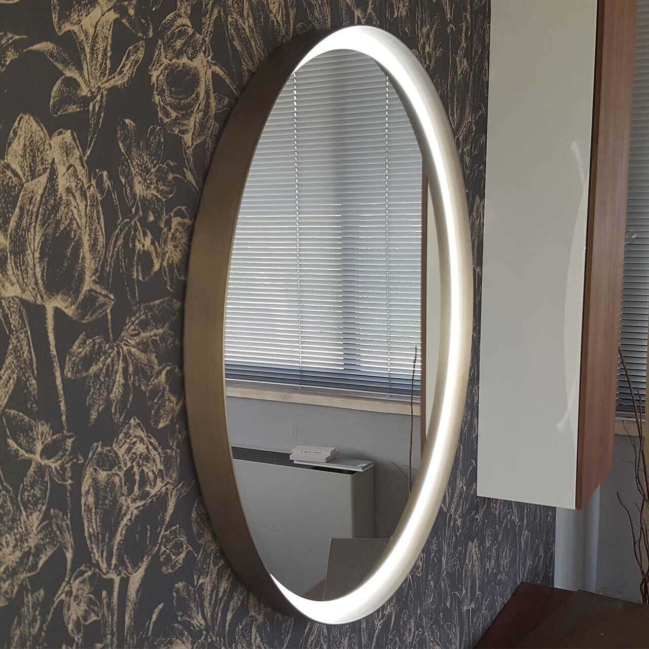 Specchio Centro led Bronzo