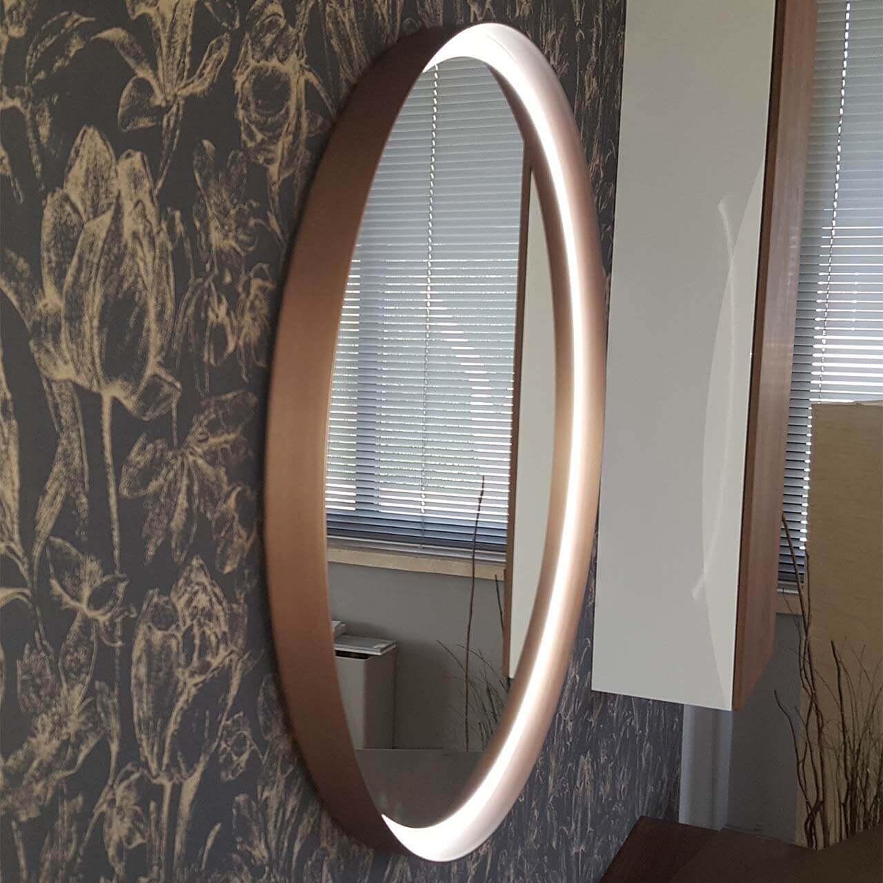 Specchio Centro led rame