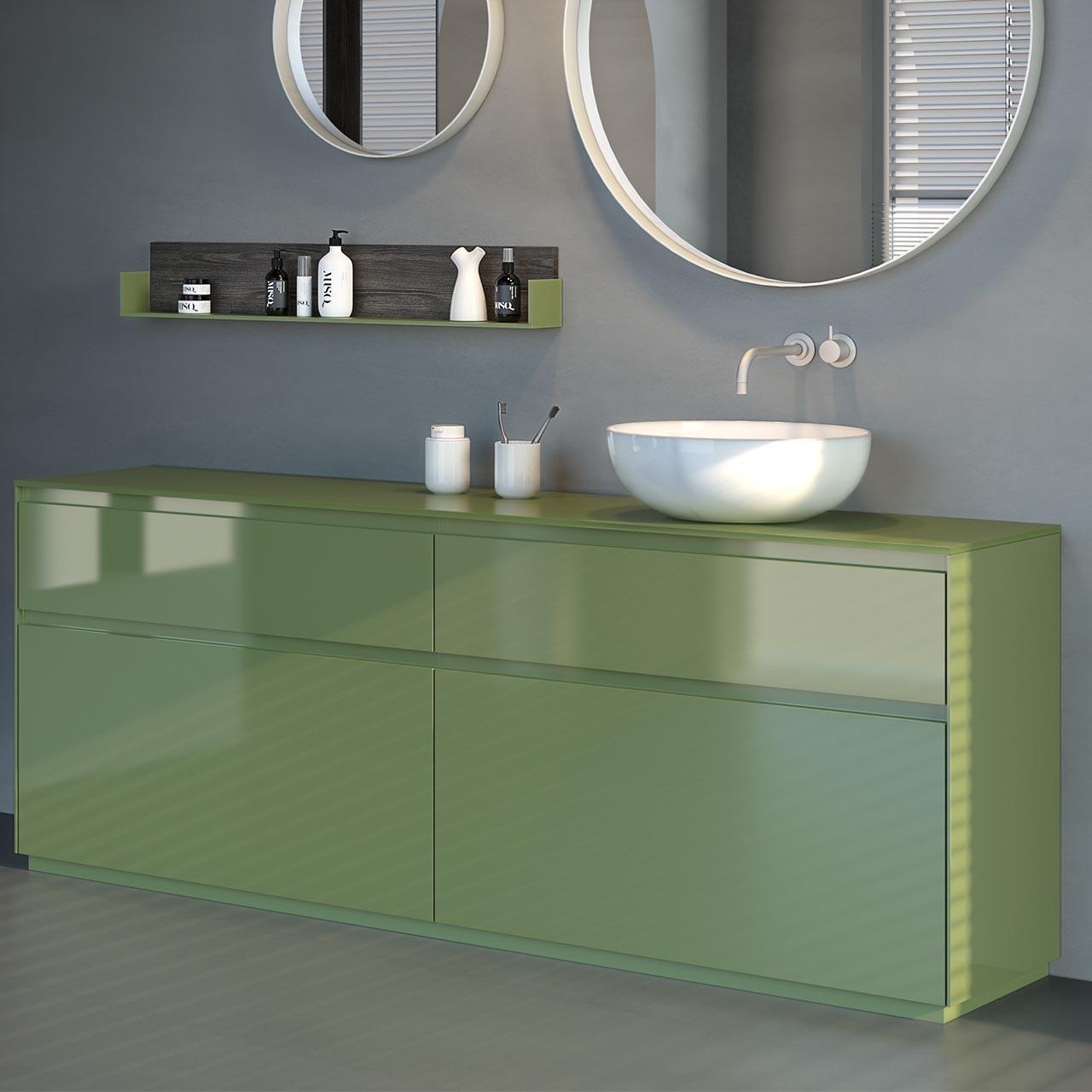 Mobili bagno verde