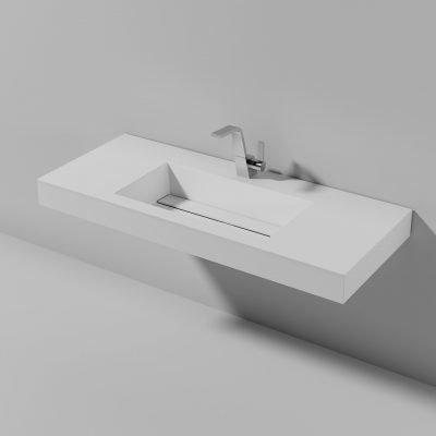 Piano lavabo sospeso Lago 120
