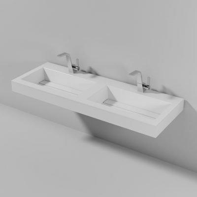 Piano doppio lavabo Lago 140