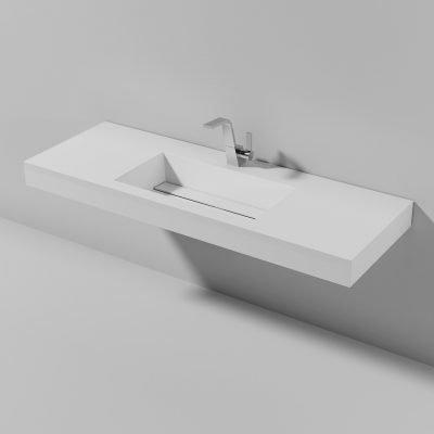 Piano lavabo sospeso Lago 140