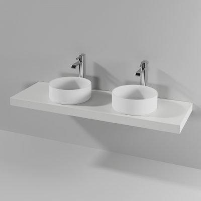 Piano doppio lavabo appoggio Loft