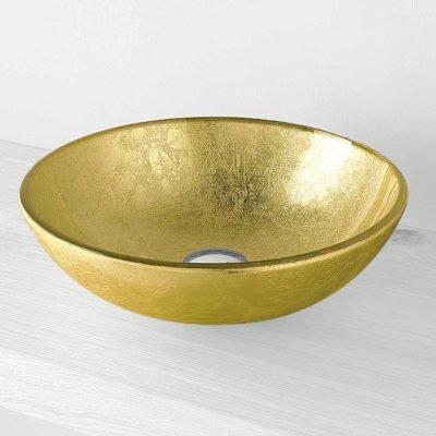 Lavabo Sfera foglia oro