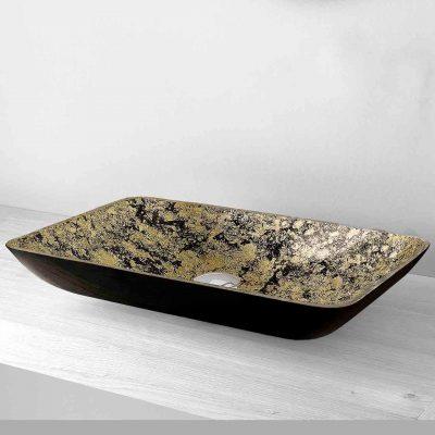 Lavabo Carrer nero-oro